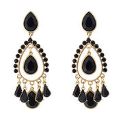 Fashion alloy drop earring, decorated with acrylic beads, OEM orders are acceptedNew