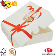 Caja de regalo de la caja de papel de la torta de la categoría alimenticia