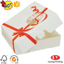 Wholesale caixa de presente da caixa de papel do bolo do produto comestível