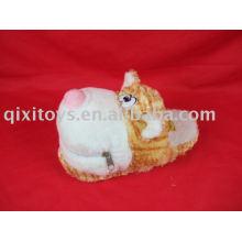 jouet de chaussures de lion de peluche, pantoufle de maison d'hiver d'animal doux