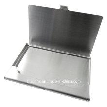 Escovado titular de cartão de aço para promoções (BS-S-003)