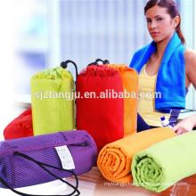 OEM logo printed microfiber sports towel/gym towel, Yoga towels small MOQ cheap price