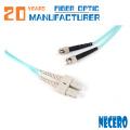 Puente de fibra óptica del cordón de remiendo de Sc / lc / fc / st / mu de alta calidad