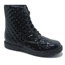 Farbe hell Leder Footware High Boots Männer Frauen Gummi Schuhe