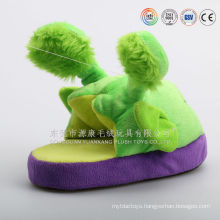 Wholesale newly design custom indoor use anti-skid animal shaped plush duck slippers