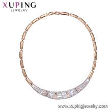 44745 xuping 2018 collier de chaîne de style de luxe multicolore pour femmes