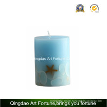 Seashell Design Handmade Pillar Candle Supplier