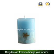 Proveedor de velas de pilar hecho a mano Seashell Design