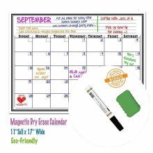 Custom magnetic white board calendar for Fridge