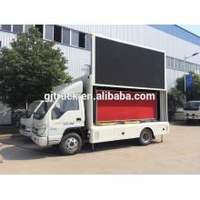 A propaganda móvel exterior conduziu o caminhão da tela da cor P10 da prova completa da água do caminhão da tela de Foton