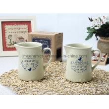 Ceramic Milk Jar con impresión personalizada