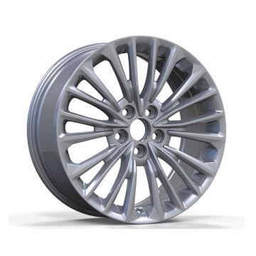 Rueda de réplica de Toyota pintada de plata