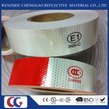 DOT-C2 tipo PVC seguridad blanco y rojo cintas reflectantes para camiones