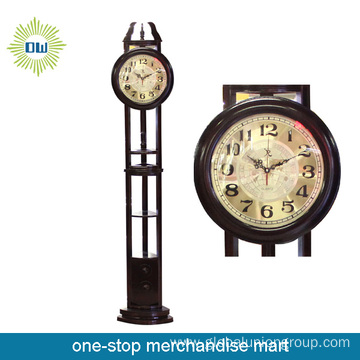 Antique Metal Floor Clock