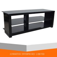 Хорошее дизайнерское стекло и деревянная подставка для телевизора / деревянный стол для телевизора