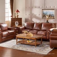 Gepolsterte Lounge Couch Echtleder Sofa
