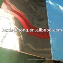 Mirror luminated aluminum coil