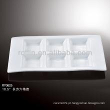 """10 """"pratos divididos quadrados, placas de jantar seccionais"""