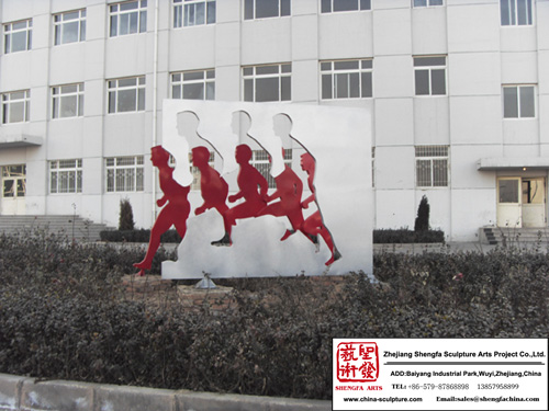 High quality Plaza Stainless Steel Sculpture