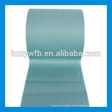 Tejido no tejido Spunlace de la pulpa de madera del poliéster viscoso paralelo / del lapping para las toallitas