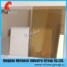 5 mm en verre teinté bronze foncé / teinté verre flotté ISO