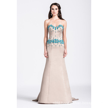 Ladies Sweetheart Evening Dress Beaded