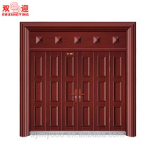 Metal grill door design good quality steel door with frames main gate