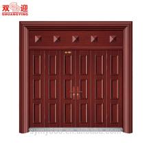 Металлическая решетка дверь дизайн хорошее качество стальной двери с рамами главные ворота