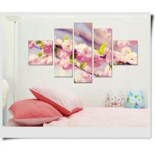 Pintura del panel del resorte del flor del melocotón