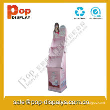 Makeup Cardboard Display Stands For Cosmetic With Oil Printing