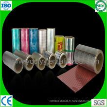 Feuillet en aluminium coloré