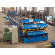 Rollo de azulejo esmaltado de acero que forma la máquina