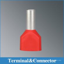 Isolierte Doppelkord-Endanschlüsse, l röhrenförmige Crimp-Drahtanschlüsse, Bootlace-Termanls Furruel mit verschiedenen Farben,