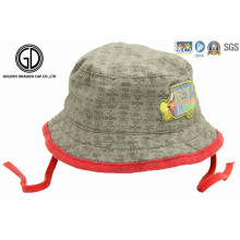 Colorful 100% Cotton Sun Cap Boonie Bucket Kids Hats