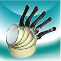 5 pcs enamel sauce pan milk pot cookware set with bakelite handle