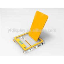Affichage acrylique clair de téléphone en plastique chaud avec la base