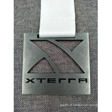Cortar Logo esmalte Running Medalha com transferência impresso Lanyard