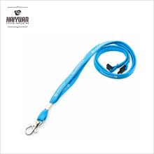 Venta al por mayor personalizable cordón de cuello de acollador poliéster cordón con pinza de metal