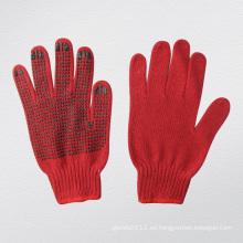 7g String Knit PVC punteado algodón guante de trabajo - 2443