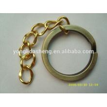 Llavero de encargo al por mayor del metal del tamaño