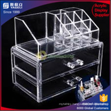 Wholesales Customers Three Layers Acrylic Clear Box with Two Drawers