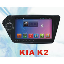 Radio del coche del sistema androide para KIA K2 9inch con el coche DVD