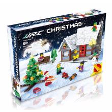 JJRC 1002 Christmas toys Building Blocks X-MAS Gift 3D Puzzle Kids Educational Bricks DIY Assembling Classic Toy