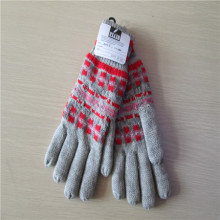 Women's Knitted Gloves with Jacquard Weave