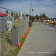 Temporary fence safety netting