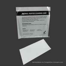 Etiquetas y recibos tarjeta de limpieza de impresora térmica