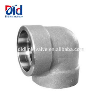 Mangueira de encanamento inoxidável do tubo de aço suave do encaixe de tubulação e 2 no cotovelo 3000lbs do fim do soquete