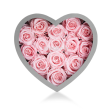Custom Valentine Flower Gift Heart Box med fönster