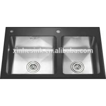 Pia de cozinha de superfície contínua de aço inoxidável universal de guangdong