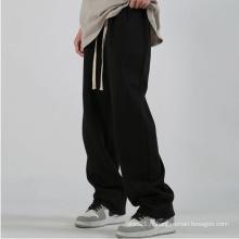 Pantalons à cordon de serrage à jambe large pour femmes